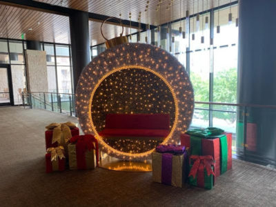 Lifesized Christmas Ball Ornament with Presents